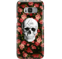 Etui na telefon Samsung Galaxy S8 Róże Czaszka