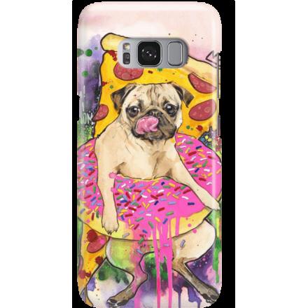 Etui na telefon Samsung Galaxy S8 Plus Głodny Mops