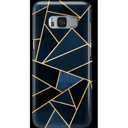 Etui na telefon Samsung Galaxy S8 Plus Geometyczne Indygo