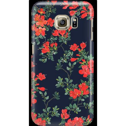Etui na telefon Samsung Galaxy S6 Edge Czerwone Kwiaty