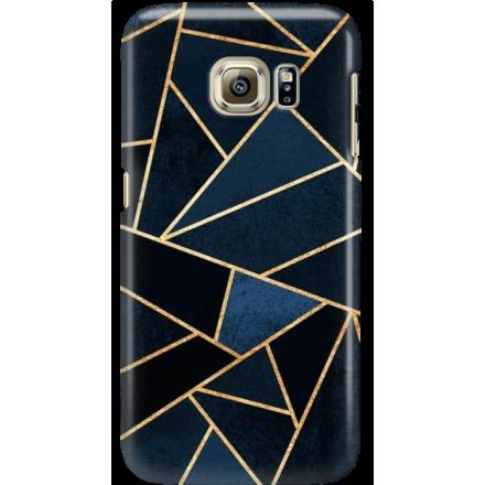 Etui na telefon Samsung Galaxy S6 Edge Geometyczne Indygo
