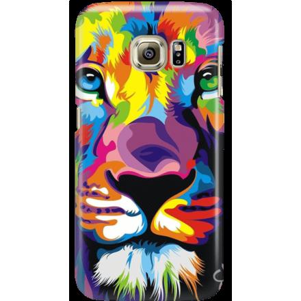 Etui na telefon Samsung Galaxy S6 Edge Kolorowy Lew
