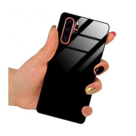 ETUI BLACK CASE GLASS NA TELEFON HUAWEI P40 CZARNY