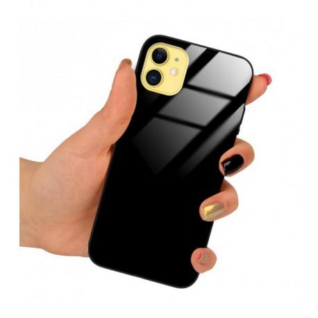 ETUI BLACK CASE GLASS NA TELEFON APPLE IPHONE 5 / 5S / SE CZARNY