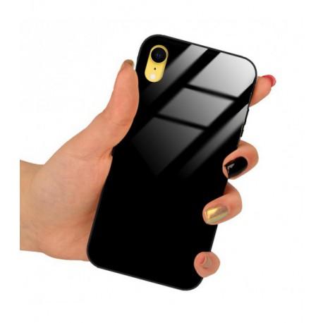 ETUI BLACK CASE GLASS NA TELEFON APPLE IPHONE XR CZARNY