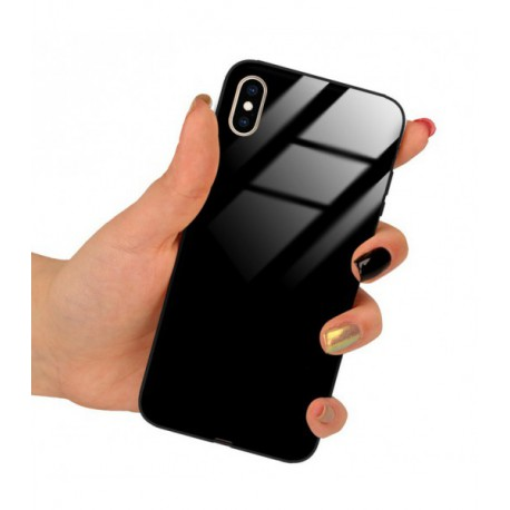 ETUI BLACK CASE GLASS NA TELEFON APPLE IPHONE XS MAX CZARNY