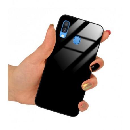 ETUI BLACK CASE GLASS NA TELEFON SAMSUNG GALAXY A21 CZARNY