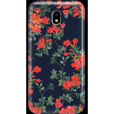 Etui na telefon Samsung Galaxy J5 2017 Czerwone Kwiaty