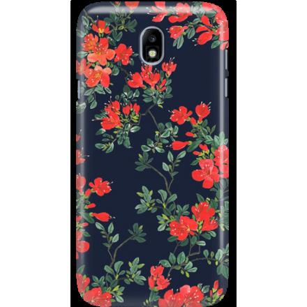 Etui na telefon Samsung Galaxy J7 2017 Czerwone Kwiaty