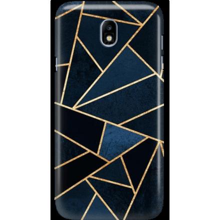 Etui na telefon Samsung Galaxy J7 2017 Geometyczne Indygo