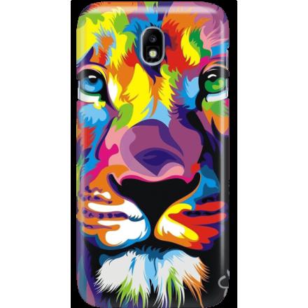 Etui na telefon Samsung Galaxy J7 2017 Kolorowy Lew