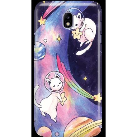 Etui na telefon Samsung Galaxy J7 2017 Kosmiczne Koty