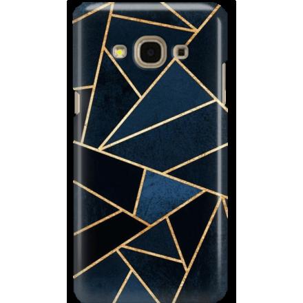 Etui na telefon Samsung Galaxy J3 2017 Geometyczne Indygo