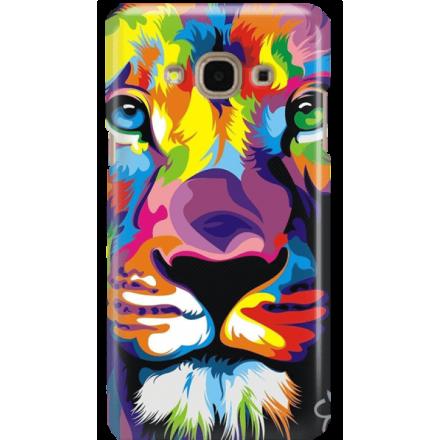 Etui na telefon Samsung Galaxy J3 2017 Kolorowy Lew