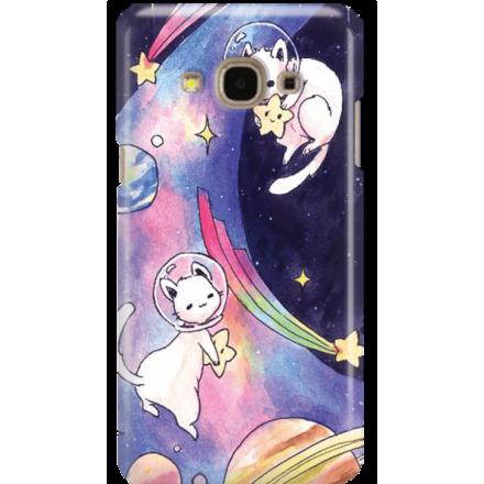 Etui na telefon Samsung Galaxy J3 2017 Kosmiczne Koty