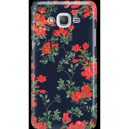 Etui na telefon Samsung Galaxy Grand Prime Czerwone Kwiaty