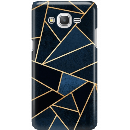 Etui na telefon Samsung Galaxy Grand Prime Geometyczne Indygo