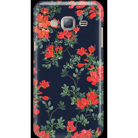 Etui na telefon Samsung Galaxy J3 2016 Czerwone Kwiaty