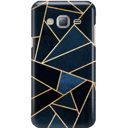 Etui na telefon Samsung Galaxy J3 2016 Geometyczne Indygo