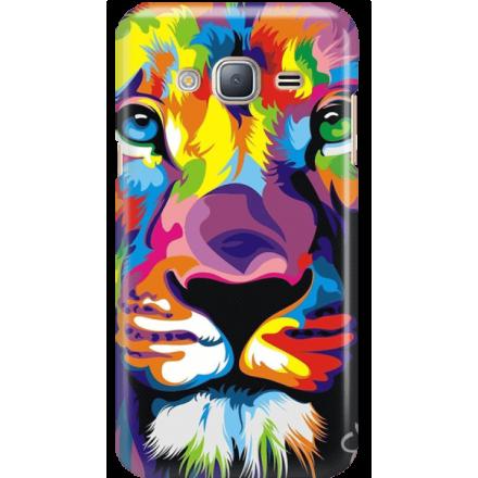 Etui na telefon Samsung Galaxy J3 2016 Kolorowy Lew