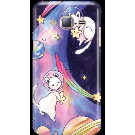 Etui na telefon Samsung Galaxy J3 2016 Kosmiczne Koty