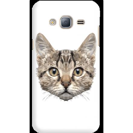 Etui na telefon Samsung Galaxy J3 2016 Kot Geometryczny