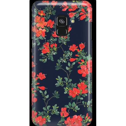 Etui na telefon Samsung Galaxy A8 2018 Czerwone Kwiaty