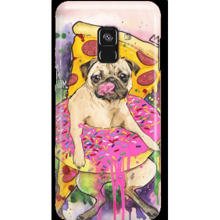 Etui na telefon Samsung Galaxy A8 2018 Głodny Mops