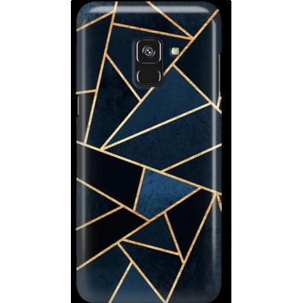 Etui na telefon Samsung Galaxy A8 2018 Geometyczne Indygo