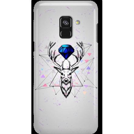 Etui na telefon Samsung Galaxy A8 2018 Jeleń Geometryczny