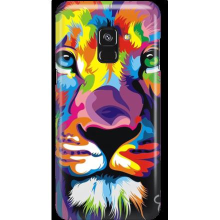 Etui na telefon Samsung Galaxy A8 2018 Kolorowy Lew