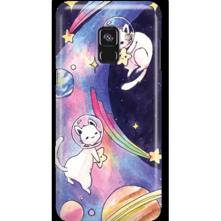 Etui na telefon Samsung Galaxy A8 2018 Kosmiczne Koty