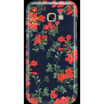 Etui na telefon Samsung Galaxy A5 2017 Czerwone Kwiaty
