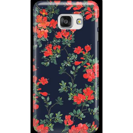 Etui na telefon Samsung Galaxy A7 2016 Czerwone Kwiaty