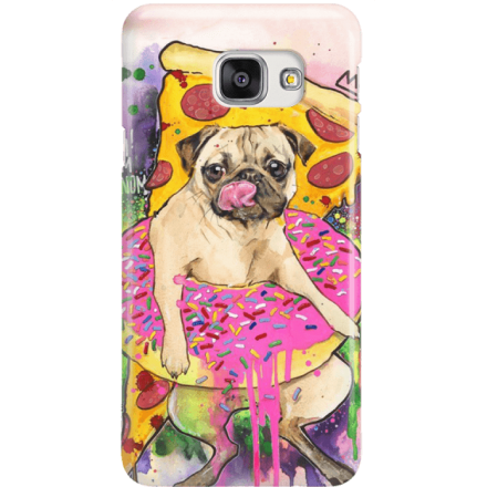 Etui na telefon Samsung Galaxy A7 2016 Głodny Mops