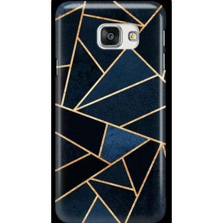 Etui na telefon Samsung Galaxy A7 2016 Geometyczne Indygo