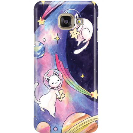 Etui na telefon Samsung Galaxy A5 2016 Kosmiczne Koty