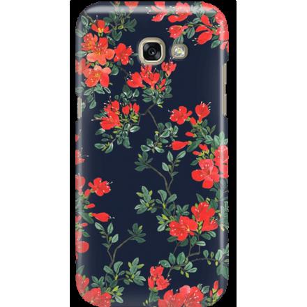 Etui na telefon Samsung Galaxy A3 2017 Czerwone Kwiaty