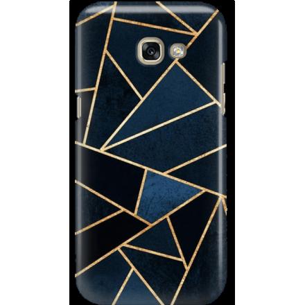 Etui na telefon Samsung Galaxy A3 2017 Geometyczne Indygo