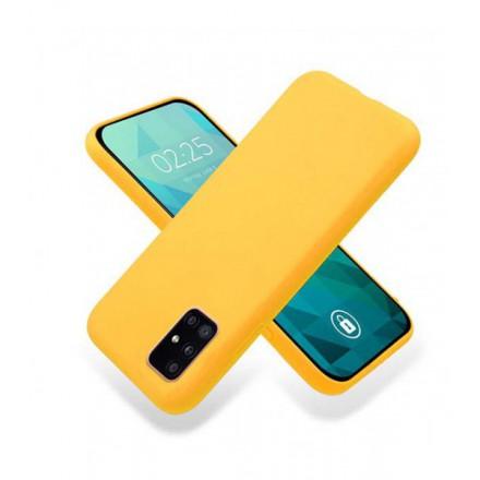 ETUI GUMA SMOOTH NA TELEFON SAMSUNG GALAXY A51 5G POMARAŃCZOWY