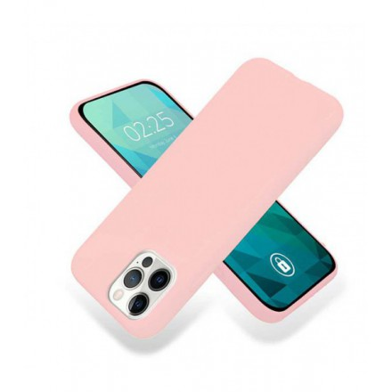 ETUI GUMA SMOOTH NA TELEFON APPLE IPHONE 12 / 12 PRO PUDROWY RÓŻ