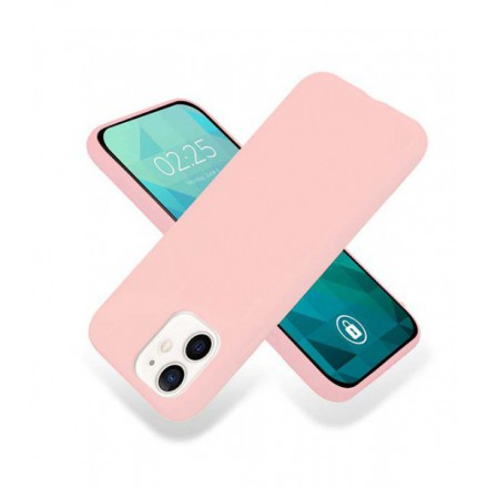 ETUI GUMA SMOOTH NA TELEFON APPLE IPHONE 12 MINI PUDROWY RÓŻ