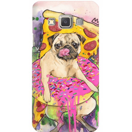 Etui na telefon Samsung Galaxy A3 Głodny Mops