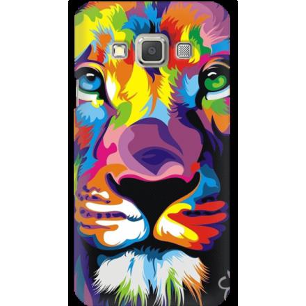 Etui na telefon Samsung Galaxy A3 Kolorowy Lew