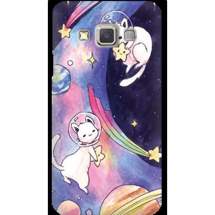 Etui na telefon Samsung Galaxy A3 Kosmiczne Koty