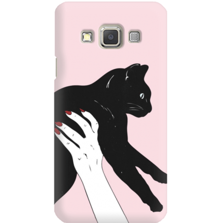 Etui na telefon Samsung Galaxy A3 Mój Czarny Kot