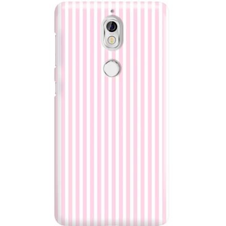 Etui na telefon Nokia 7 Candy Różowe Paski