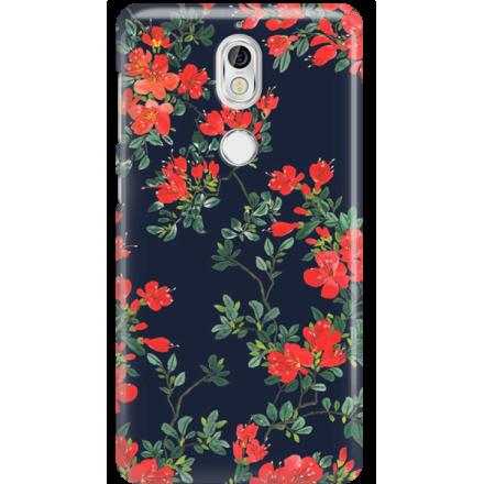 Etui na telefon Nokia 7 Czerwone Kwiaty