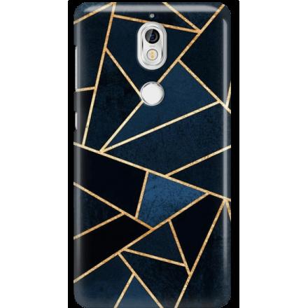 Etui na telefon Nokia 7 Geometyczne Indygo