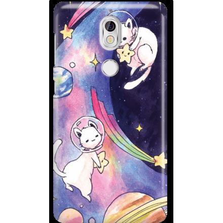 Etui na telefon Nokia 7 Kosmiczne Koty